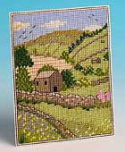 Cross-stitch Postcard of Swaledale