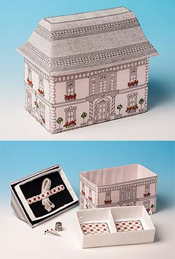 Victorian Mansion Sewing Box